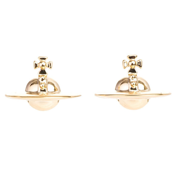 Vivienne Westwood Solid Orb Gold Tone Earrings.