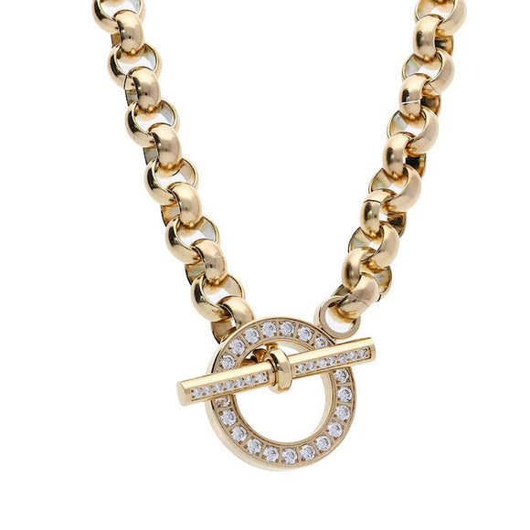 Qudo Ceccano Deluxe Gold Necklace