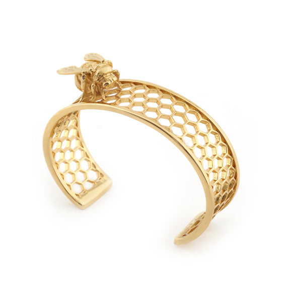 Bill Skinner Gold Plated Bee Bangle