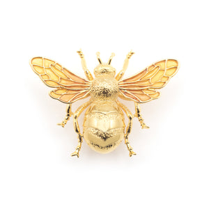 Bill Skinner Gold Queen Bee Statement Brooch