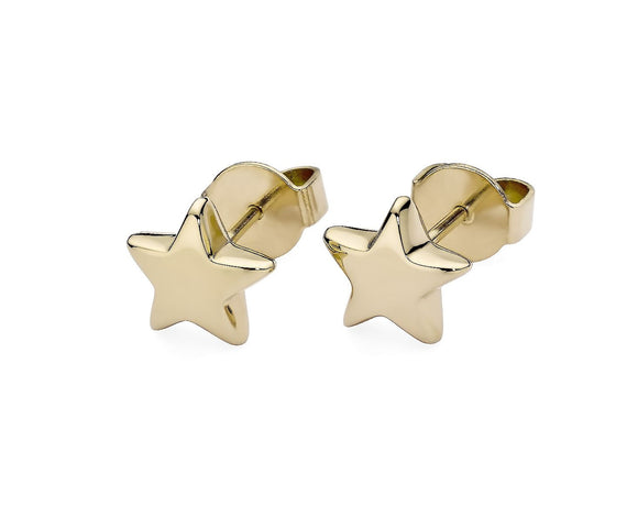 Qudo Gold Stella Star Earrings