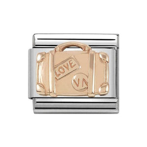 Nomination Rose Gold Suitcase Charm