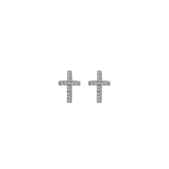 Hot Diamonds Silver Cross Earrings