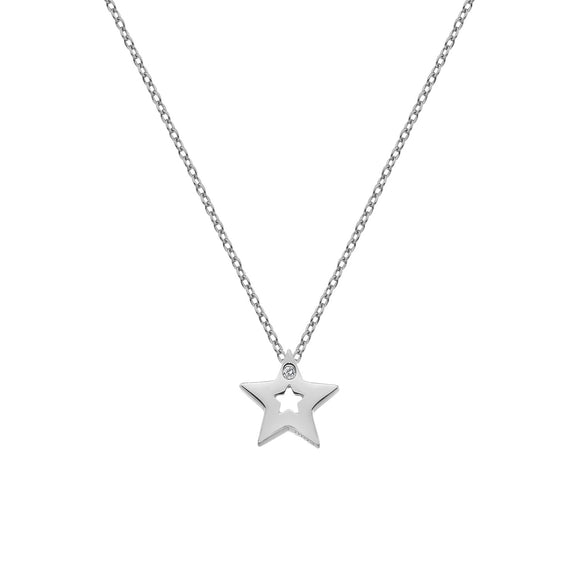 Hot Diamonds Silver Star Necklace