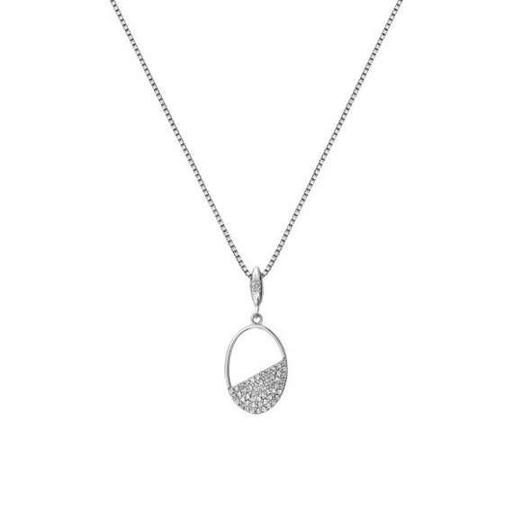 Hot Diamonds White Topaz Oval Pendant