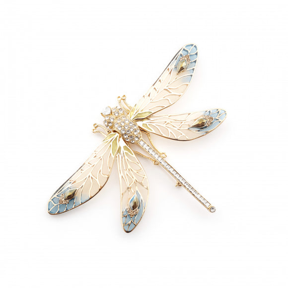 Bill Skinner Gold Plated Dragonfly Statement Brooch