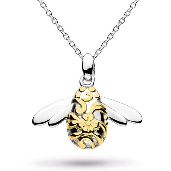 Kit Heath Silver Blossom Bumblebee Necklace