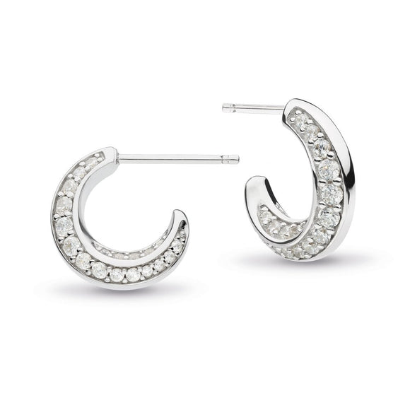 Kit Heath Bevel Cirque hoop earrings 3151cz