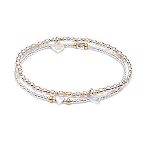 Annie Haak Love Stack Gold, Set Of 2 Bracelets