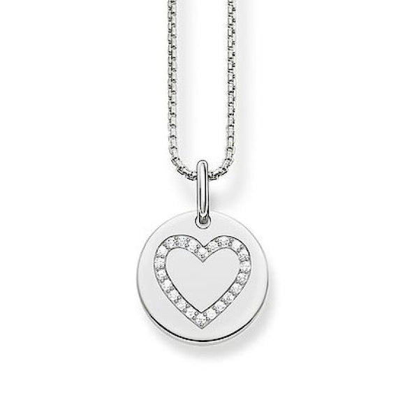 Thomas Sabo Cubic Zirconia Silver Heart Necklace