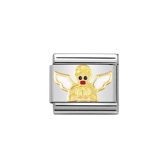 Nomination Gold Angel Charm