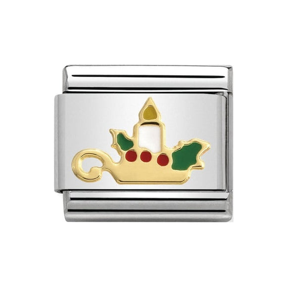 Nomination Gold Christmas Candle Charm