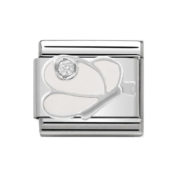 Nomination Silver CZ White Butterfly Charm