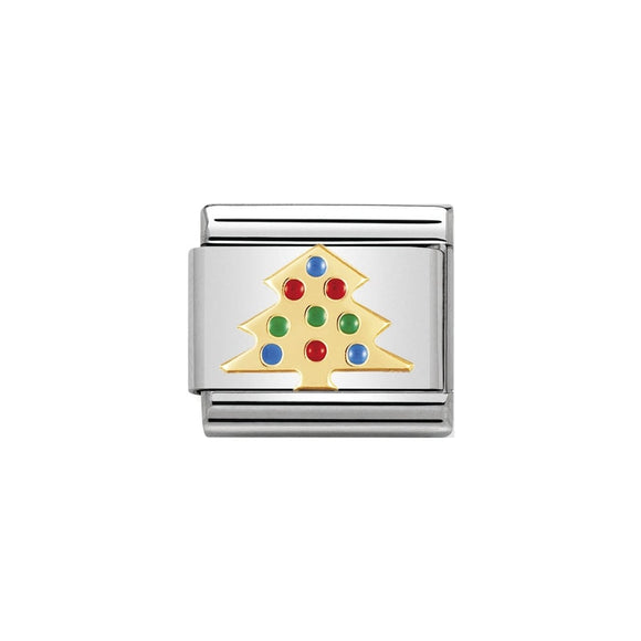 Nomination Gold Christmas Tree Charm