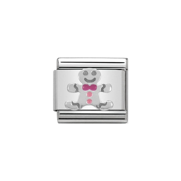 Nomination Silver Gingerbread Man Charm