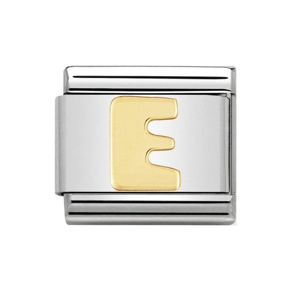 Nomination Gold Letter E Charm