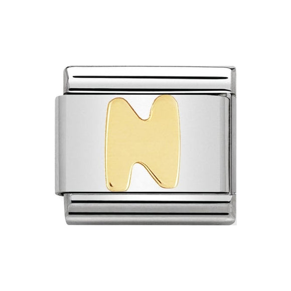 Nomination Gold Letter N Charm