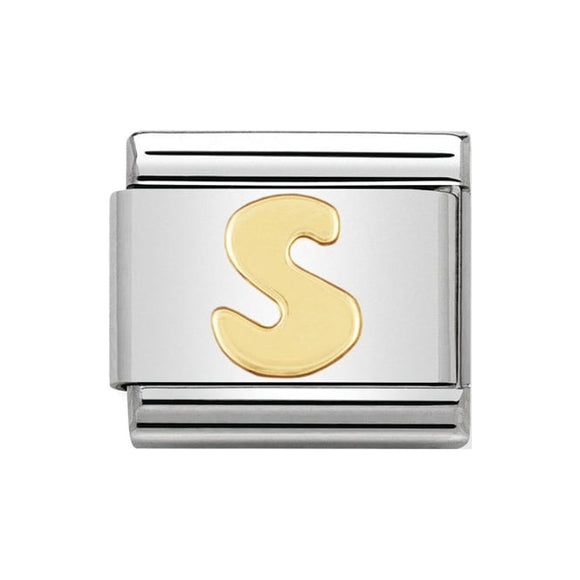 Nomination Gold Letter S Charm