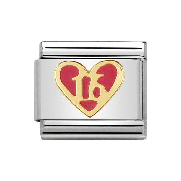 Nomination Pink 16 Heart Charm