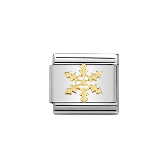 Nomination Gold Snowflake Charm