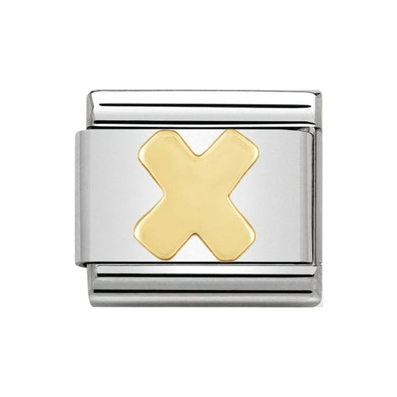 Nomination Gold Letter X Charm