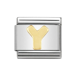 Nomination Gold Letter Y Charm