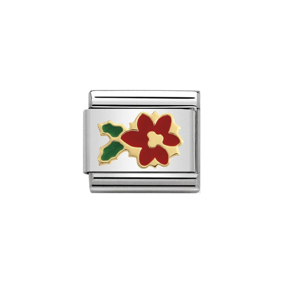Nomination Gold Poinsettia Charm
