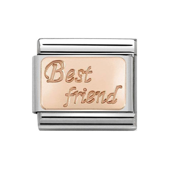 Nomination Rose Gold Best Friend Plate Charm