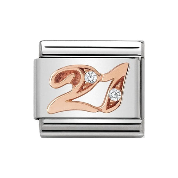 Nomination Rose Gold CZ 21 Charm