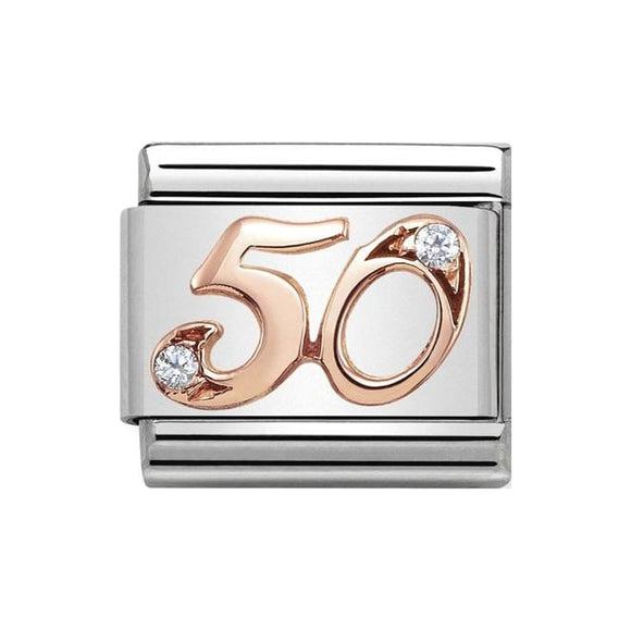 Nomination Rose Gold CZ 50 Charm