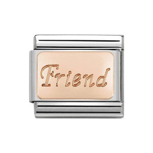 Nomination Rose Gold Friend Plate Charm