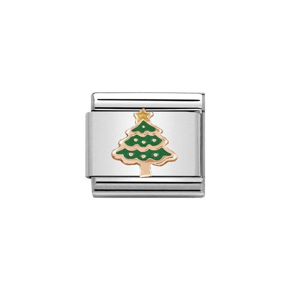 Nomination Rose Gold Christmas Tree Charm