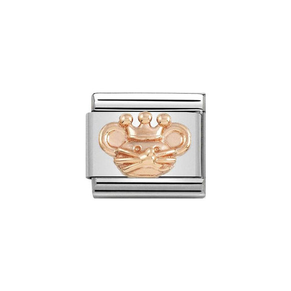 Nomination Rose Gold King Rat Charm