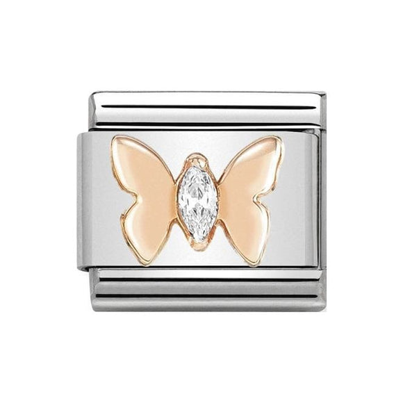Nomination Rose Gold CZ Butterfly