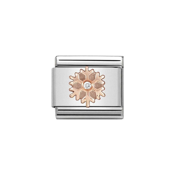 Nomination Rose Gold CZ Snowflake Charm