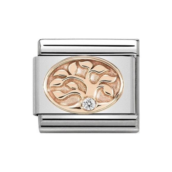 Nomination Rose Gold CZ Tree Of Life Charm