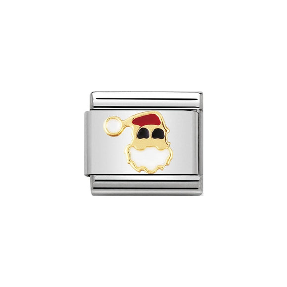 Nomination Gold Santa Claus Face Charm