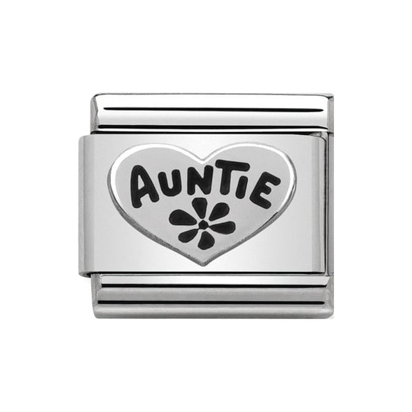 Nomination Silver Auntie Heart Charm