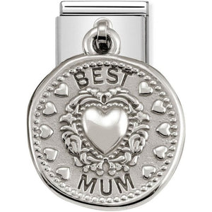 Nomination Silver Best Mum Drop Charm