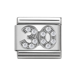 Nomination Silver CZ 30 Charm
