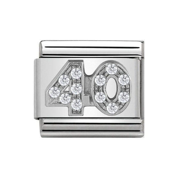 Nomination Silver CZ 40 Charm