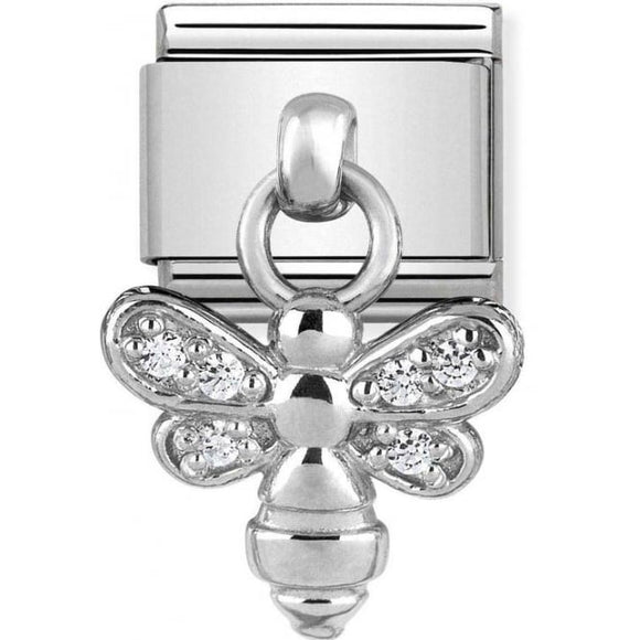 Nomination Silver CZ Bee Drop Charm