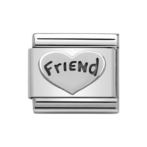 Nomination Silver Friend Heart Charm