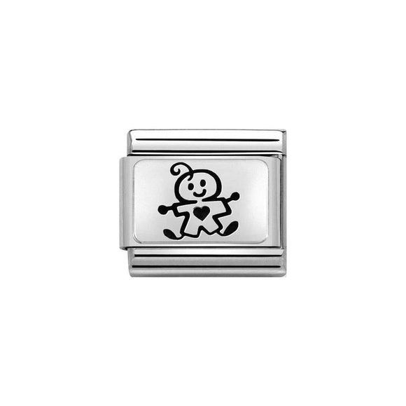 Nomination Silver Illustrated Baby Boy Charm