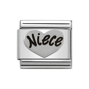 Nomination Silver Niece Heart Charm