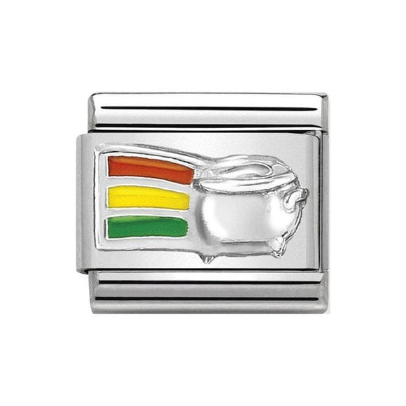 Nomination Silver Rainbow Pot of Gold Charm
