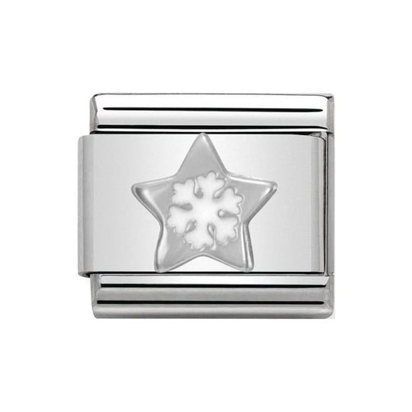 Nomination Silver Star With Snowflake Charm