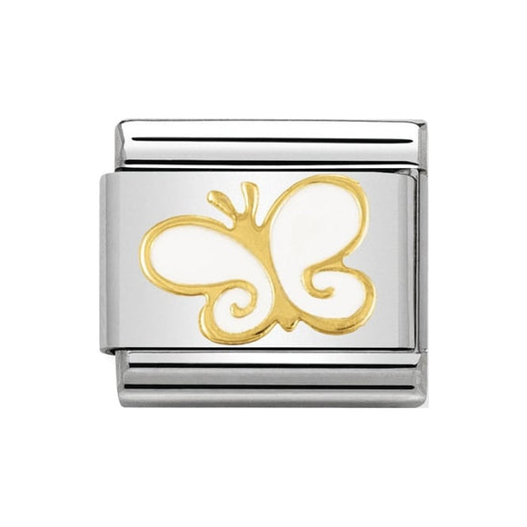Nomination Gold White Butterfly Charm