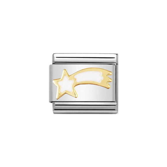 Nomination Gold White Shooting Star Charm