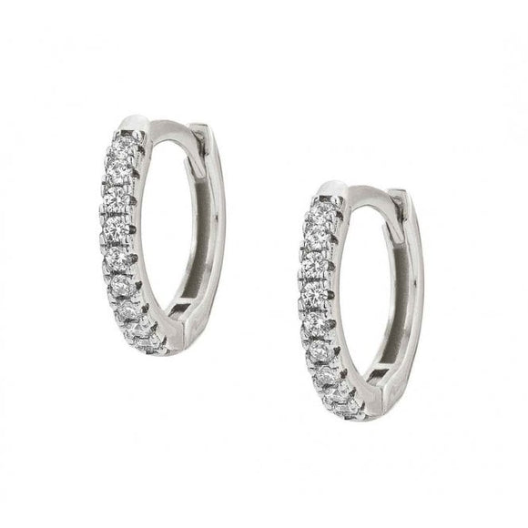Nomination Easychic Silver CZ Hoop Earrings